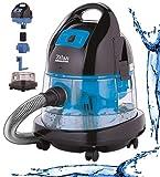 Zilan Staubsauger | 2.000 Watt | Wasser Staubsauger | Bodenstaubsauger | Staubsauger mit Wasserfilter | Für Innen- und Außenreinigung | Wassersauger | Mit oder ohne Beutel (Poseidon Blue)